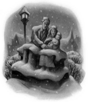 Estatua de James y Lily Potter