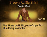 Brown Ruffle Shirt