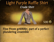 Light Purple Ruffle Shirt