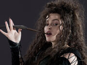 DH1 Bellatrix Lestrange with her wand 01