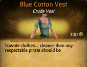 Blue Cotton Vest