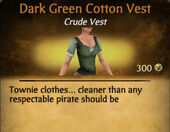Dark Green Cotton Vest