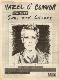 Hazel o'connor tour album poster 1980