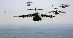 US Air Force C-17 Globemaster III formation