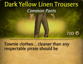 Dark Yellow Linen Trousers