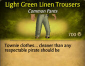 Light Green Linen Trousers