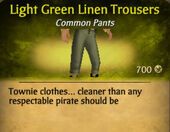 Light Green Darker Linen Trousers