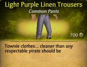 Light Purple Linen Trousers
