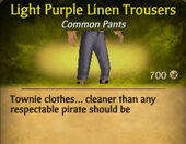 Light Purple Darker Linen Trousers
