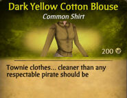 Dark Yellow Cotton Blouse