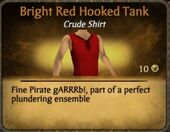 Bright Red Hooked Tank