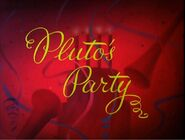 Pluto&#39;s Party