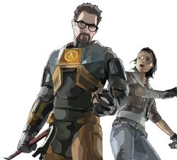 Gordon Freeman and Alyx Vance