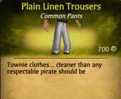 Plain Linen Trousers