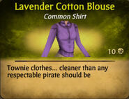 Lavender Cotton Blouse
