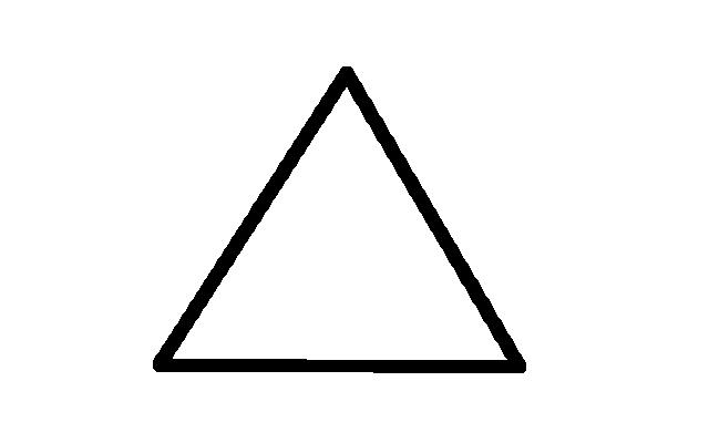 Big Triangle Outline Shape