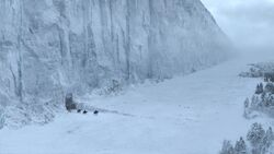 """The Wall, from Game of Thrones, based off George R. R. Martin's """"A Song of Ice and Fire"""" series."""