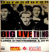 Duran duran french poster 21 nov 88