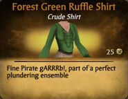Forest Green Ruffle Shirt