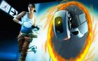 Chell GLaDOS through portal