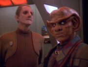 Odo reminds Quark no vole fighting
