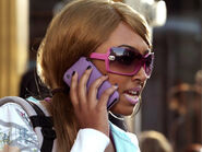 Alli In Her Disguise Talking On Her Cell Phone