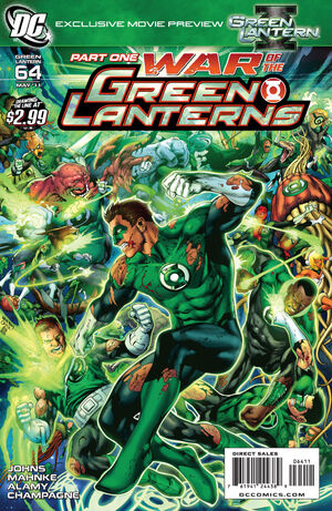 Cover for Green Lantern #64 (2011)