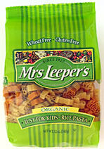 Mrs leepers just for kids organic rice pasta