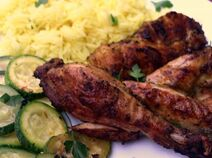 Grilled moroccon chicken