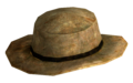 Rawhide cowboy hat