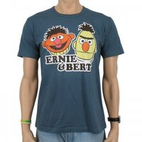 Logoshirt-Ernie&amp;Bert-T-Shirt-blue