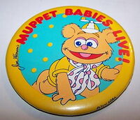 Muppet babies live 1986 button fozzie