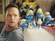 Neil with smurfs