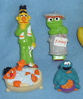 Toothpaste and toothbrush toppers 1998