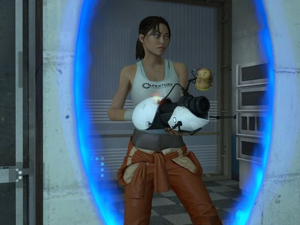 portal 2 chell redesign. portal 2 chell cosplay. portal
