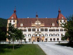 Graz Schloss Eggenberg front facade