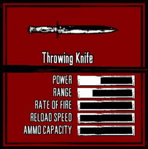 Rdr weapon throwing knife