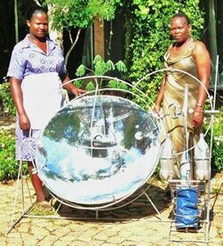 Free Africa Solar cooker display