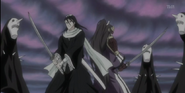 Senbonzakura and Byakuya, Back to Back