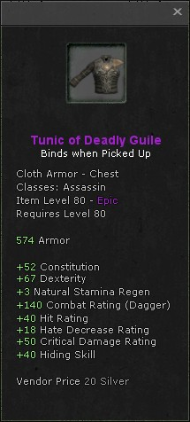 Tunic of deadly guile