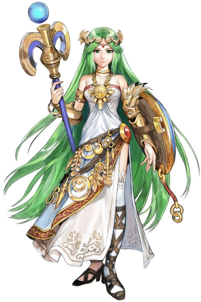 The Goddess Of Light And Pits Higher Up Palutena Has Decided To Stop Sitting Start Fighting