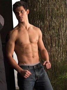 Taylor lautner shirtless sixpack new moon set tree 300x400