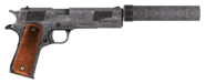 .45 Auto pistol with all the modifications, excluding cut content