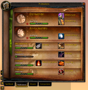 Spellbook &amp; Abilities-Professions tab