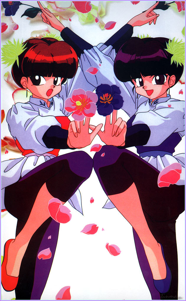 File:Pink and Link - 1999 Calendar.jpg - Ranma Wiki
