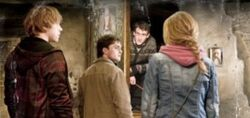 Trio in hogsmeade