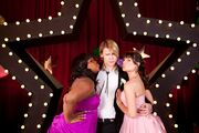 Sam Mercedes Rachel at Prom