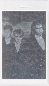 Duran duran-1987 laminate working pass
