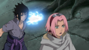 Sasuke attack Sakura