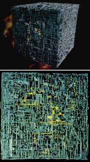 Borg cube original studio model